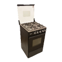 SCANFROST GAS COOKER 5402 BLACK