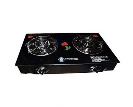 Haier Thermocool Table Top Gas Cooker-Double Burner Glass